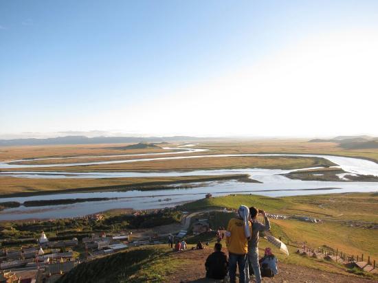 Zoige County, Çin: 唐克黃河九曲第一灣落日