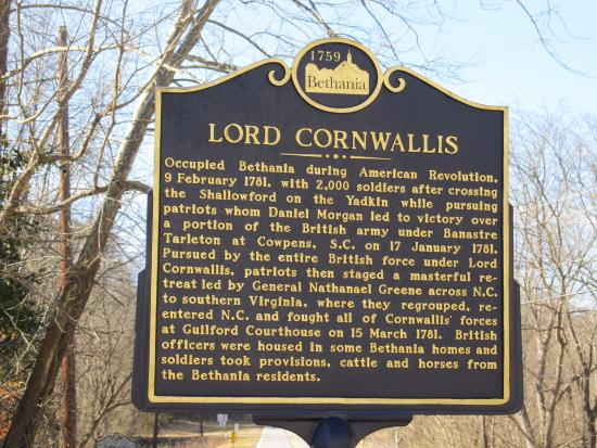 lord cornwallis slept here picture of historic bethania nc