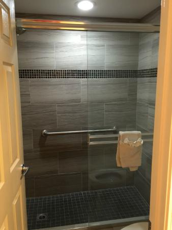 Hi View Inn & Suites: Great shower!