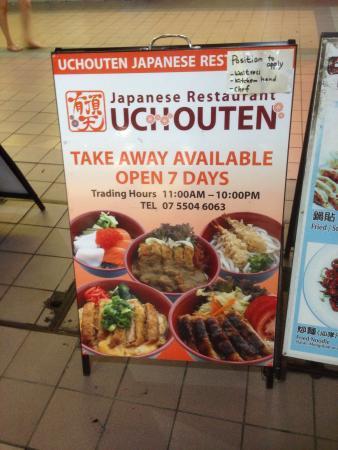 Uchouten Japanese Restaurant: The restaurant is upstairs