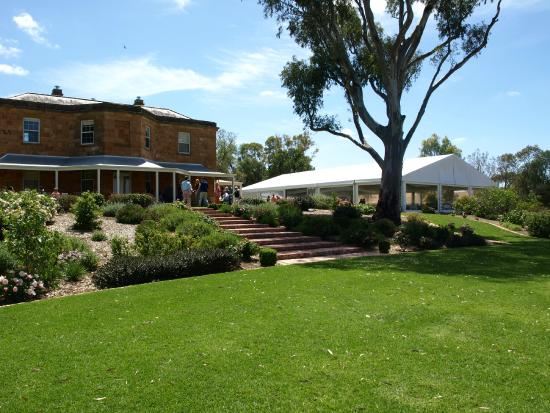 Kingsford, Australia: the marquee set up right next to the property.