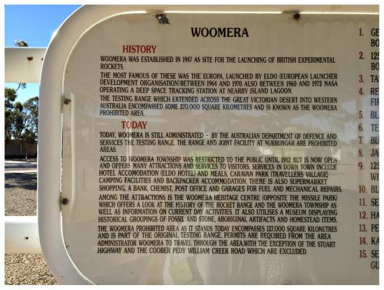 Woomera, Australia: INTERESTING !!