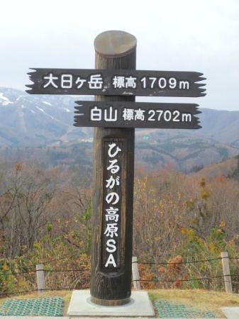 ひるがの高原SA, 山岳案内