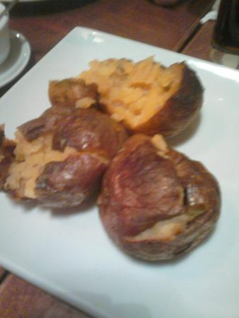 Bojangles': 3 disgusting old overcooked potatoes..