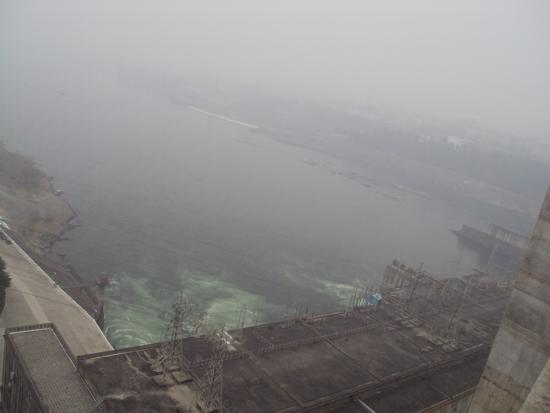 Danjiang Dam: the lower level seen from the dam ridge