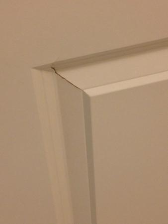 Residence Inn Bloomington by Mall of America: busted door on remodeled room
