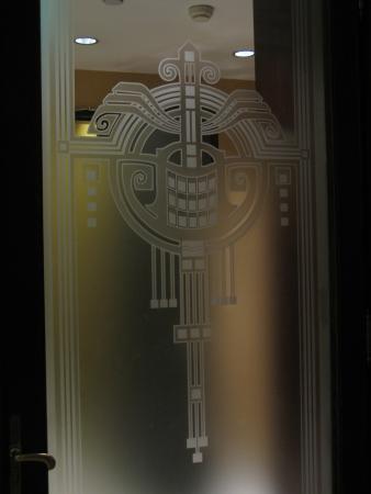 Art nouveau decoration on a door glass picture of gresham palace gresham palace art nouveau decoration on a door glass planetlyrics Image collections