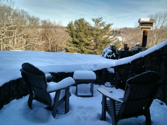 The Inn at Honey Run: Our private patio