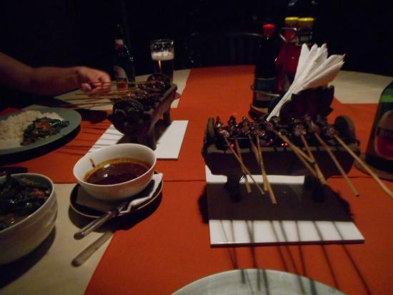 Sudanita Homestay : satay kambing