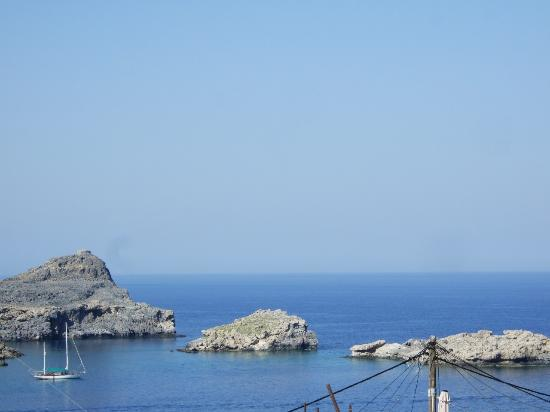 Maris Studios Lindos: A view from the Terrace