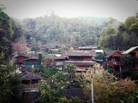 Mae On, Thailandia: View from homestay in the morning