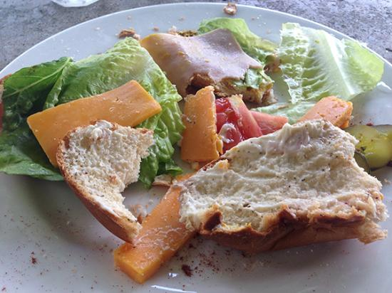 Popa Paradise Beach Resort: A cheese sandwich after supplies ran out.
