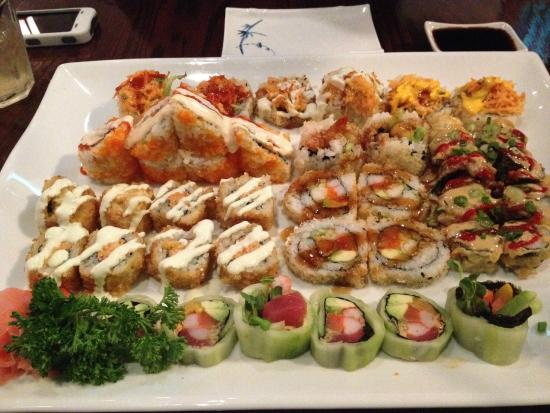 Sushi top surf volcano crunchy shrimp beef tempura - Shogun japanese cuisine ...