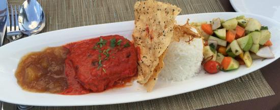 Bombay Chopsticks: Chilean Sea Bass with Mango Chutney, Basmati rice and Apple/Cucumber salad