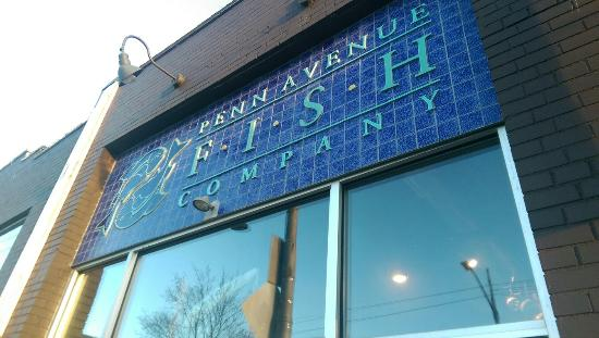 Outside picture of penn avenue fish company the strip for Penn ave fish co