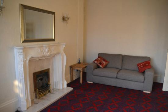 The Camelot Seafront Hotel: Guest lounge with TV and DVD player. We also have a selection of children's toys.