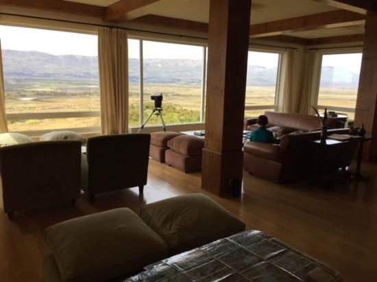 EOLO - Patagonia's Spirit - Relais & Chateaux: view from the hotel lounge