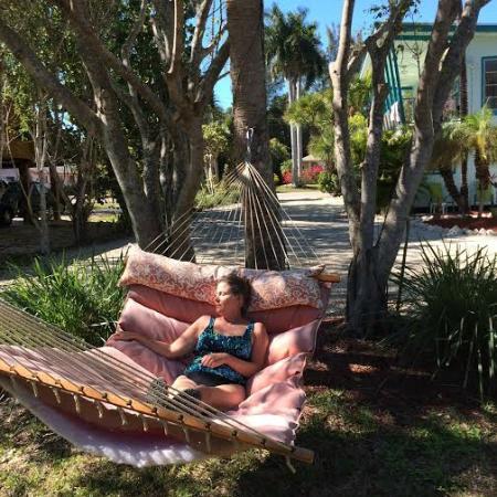 Sandpiper Inn: Back yard hammock