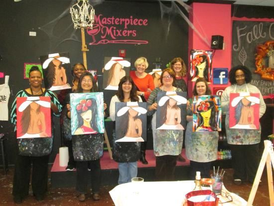 Masterpiece Mixers Paint & Party Studio: Girls Night Out - GREAT TIMES!!