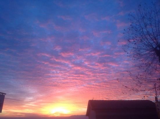 San Baronto: tramonto