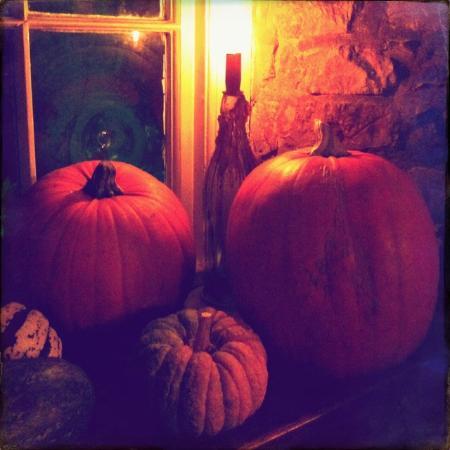 Lighthorne, UK: Autumn gourds at The Antelope