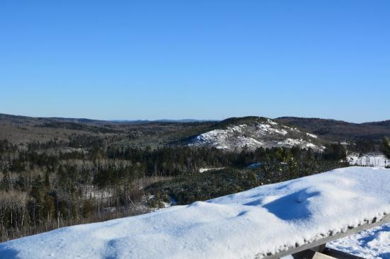 Fortune's Madawaska Valley Inn : One of the rewarding vistas accessible by sled.