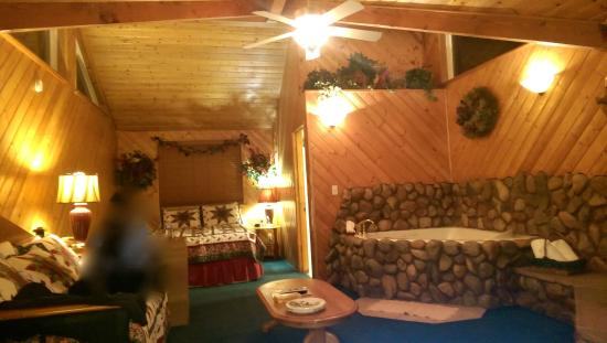 Giant Oaks Lodge: Cozy...ohh soo COZY. If only you could see the tall ceiling and huge Alpine windows!