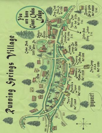 Giant Oaks Lodge: Just one side of the local area map! There is more on the other!