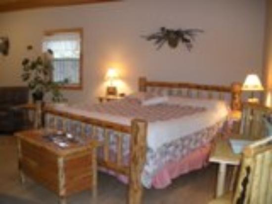 West Yellowstone B & B: King Room w/ Futon