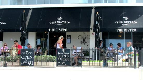 Just Pure Bistro: Patio with a fabulous view especially in the whale season June- November