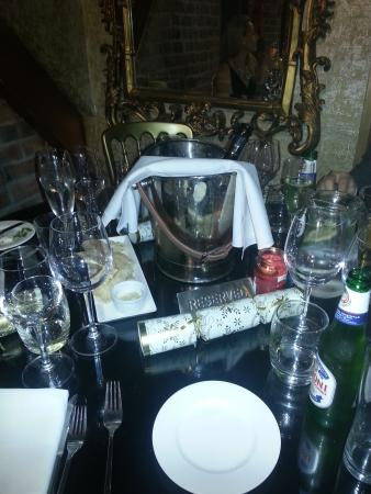 Carpathia Ch&agne Bar \u0026 Restaurant: Christmas table set up. & Christmas table set up. - Picture of Carpathia Champagne Bar ...