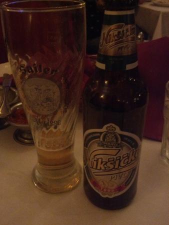 Old Town Serbian Gourmet House: beer Niksicko