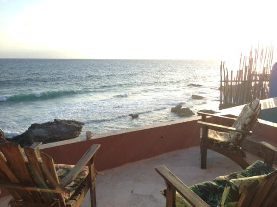 Casa Roca Caribe: Porch facing East over the Caribbean