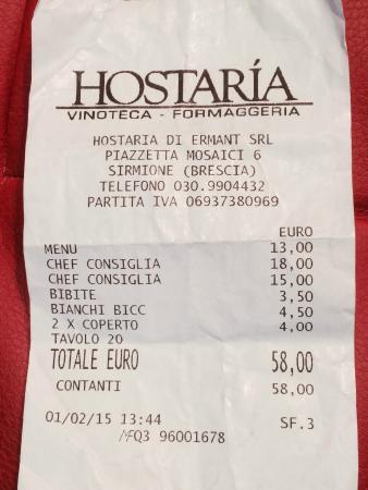 Province of Brescia, إيطاليا: conto pagato....a mai piu!