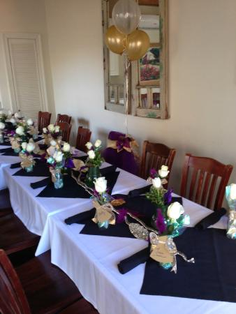 Pinzone S Italian Village Setting For 16 Bridesmaids Luncheon Table Decor Was My