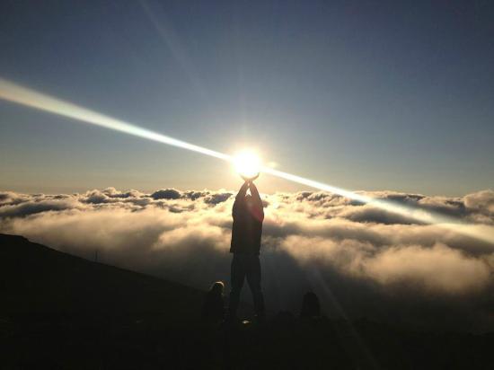 Haleakala Crater: Fun with the sun :)