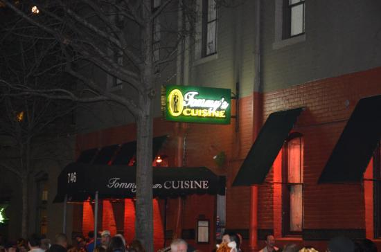 Tommy's Cuisine: Tommy's sign