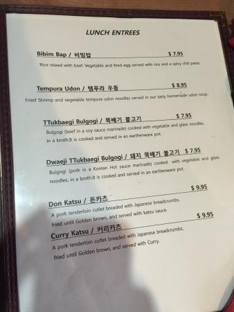 Kyung Sung Restaurant: Menu