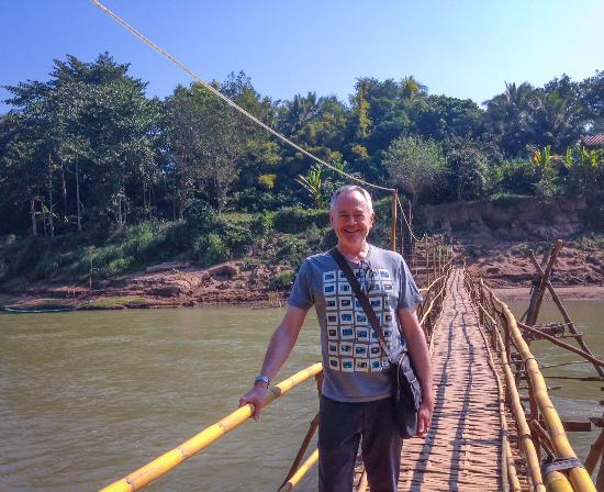 Luang Prabang, Laos: Bamboo bridge to adventure!