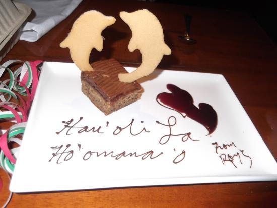 Roy's - Kaanapali: anniversary dessert