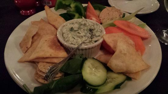 Spats Cafe & Speakeasy: Cheese and crab dip
