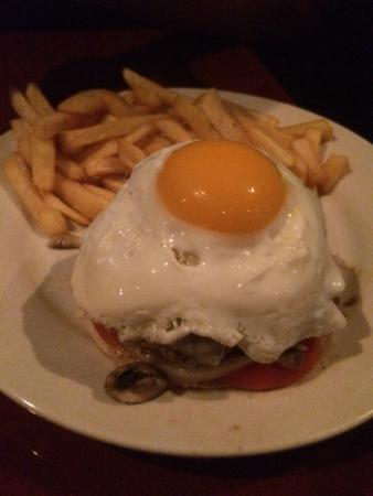 The Grove Spot: Cheeseburger with Egg.