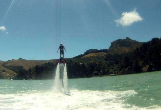 Volo Jetski Adventures: Me on my first attempt at flyboarding. SOOO FUN!