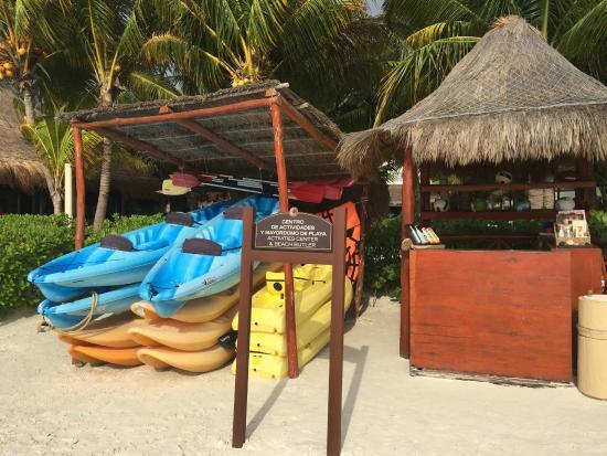 El Dorado Maroma -- kayaks for guests use