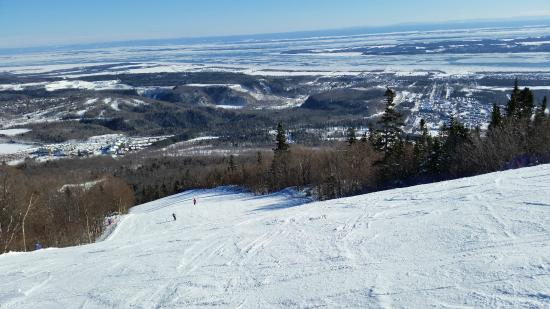 Mont-Sainte-Anne: View of St Lawrence from the top