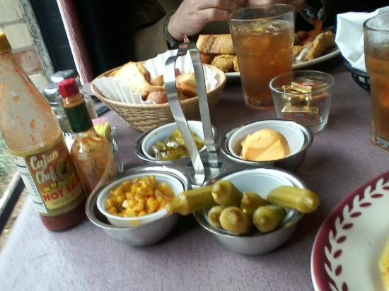 Johnny Cace's Seafood & Steak House: The famous relish tray, and toasts