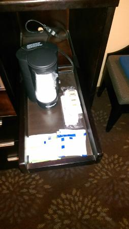 Holiday Inn Express Hotel & Suites Huntsville: coffee maker on pull out drawer