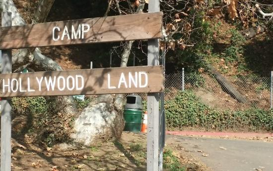 Bronson Caves : The Sign by the Parking Lot