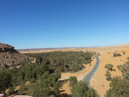 Taghit, Algérie : Vue prise de la terrace de la chambre