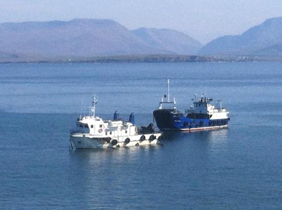 County Mayo, Ierland: Clare Island Ferry. MV Pirate Queen and MV Clew Bay Queen
